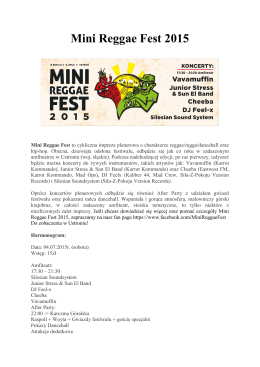 Mini Reggae Fest 2015