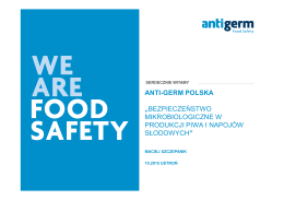 Bezpieczeństwo mikrobiologiczne w produkcji piwa