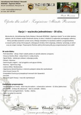 Pobierz ofertę wycieczki - Szkolna wycieczka 2015 – Rosenau