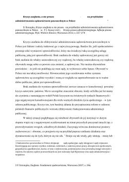 D. Konopka, Kryzys zaufania a nie prawa