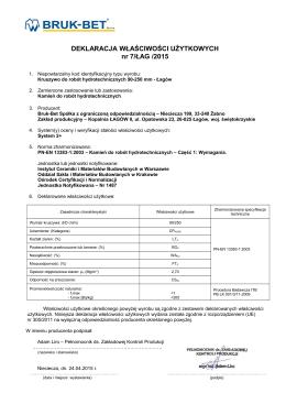 PDF DWU nr 7 ŁAG 2015 - Kruszywo do robot - Bruk-Bet