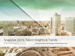 Snapshot 2015: Talent Insights & Trends