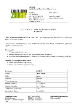 ZEMAR Spółka Jawna Marcin Jaroń, Mariusz Jaroń ul. Długa 1 83
