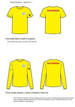 T-shirt krótki rękaw, 2 sztuki w komplecie T-shirt z długim