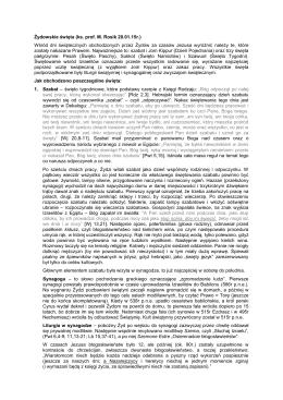 Żydowskie święta (ks. prof. M. Rosik 20.01.15r.) Wśród dni