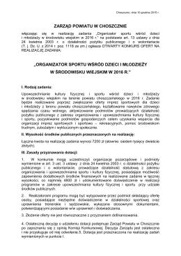 Ogłoszenie o naborze - Powiat Choszczeński