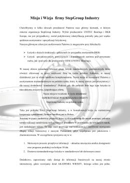 Misja i wizja - Step Group Industry