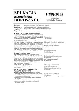 EDUKACJA ustawiczna DOROSŁYCH 1(88)/2015