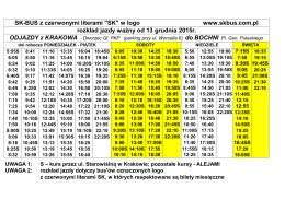 """SK-BUS z czerwonymi literami """"SK"""" w logo www.skbus.com.pl"""