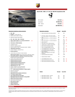 99 900 PLN new 106 900 PLN new Abarth 595 / 595C 1.4 T