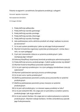 Przykładowy zestaw pytań egzaminacyjnych