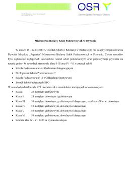 Mistrzostwa Bielawy Szkół Podstawowych w