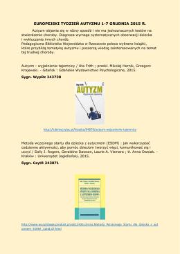 Wybrane pozycje książkowe dostępne w Pedagogicznej Bibliotece