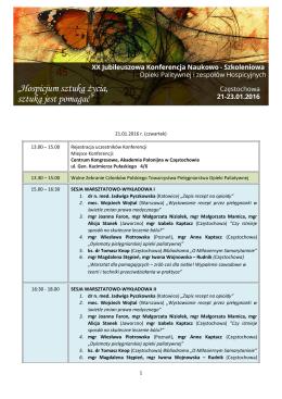 Pobierz program Konferencji w PDF