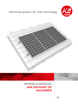 Instrukcje montażu: Hak dachowy do dachówek