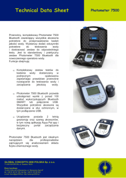 Photometer 7500 - Global Concepts