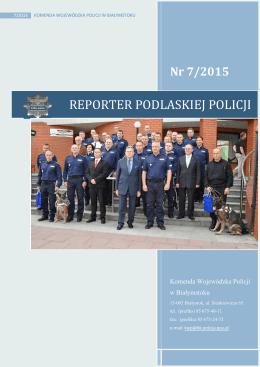 Reporter Podlaskiej Policji nr 7/2015 Najlepsi
