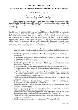 Zarządzenie nr 7/2015 Dyrektora