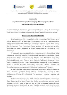 Protokół z V warsztatów konsultacyjnych z dnia 08.10.2015r.
