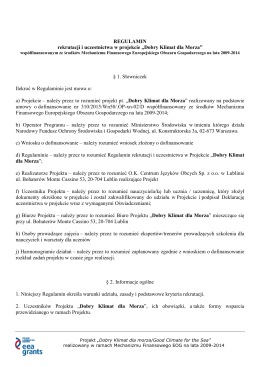 Regulamin EEA Aktualizacja 05.10.2015