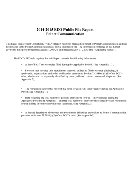 2014-2015 EEO Public File Report Polnet Communication