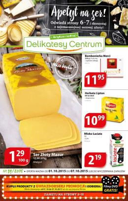 Ser Złoty Mazur - Delikatesy Centrum