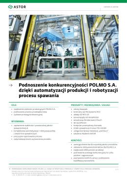 Podnoszenie konkurencyjności POLMO S.A. dzięki automatyzacji