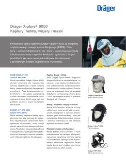 Dräger X-plore® 8000 Kaptury, hełmy, wizjery i maski