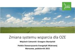Zmiana systemu wsparcia dla OZE