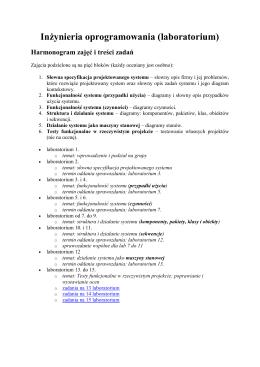 Inżynieria oprogramowania (laboratorium)
