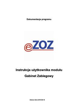 Instrukcja użytkownika modułu Gabinet Zabiegowy