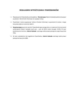 regulamin wypożyczania powerbanków