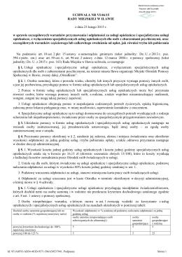 Uchwala Nr VI/46/15 z dnia 23 lutego 2015 r.