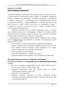 Załącznik nr 4 do SIWZ - Centrum Informatyczne Edukacji
