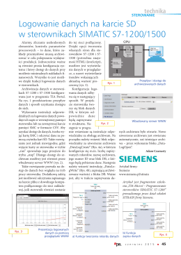 Logowanie danych na karcie SD w sterownikach SIMATIC