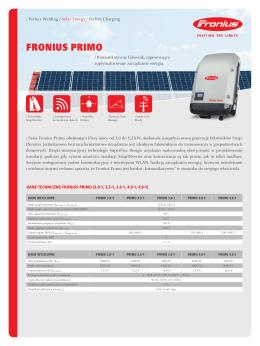 {DE}Datenblatt Fronius Primo PL~{EN}Datasheet Fronius Primo PL