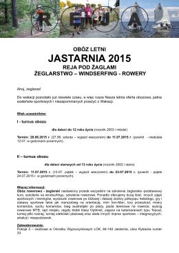 JASTARNIA 2015 - Reja