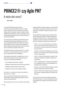 Zarządzanie Projektami – PRINCE2® czy Agile PM