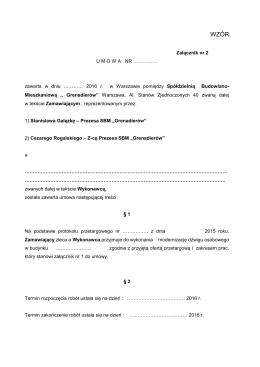 UMOWA modernizacyjna 2016 wzór zał. nr 2