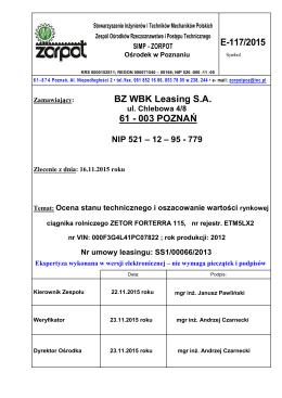 E-117/2015 BZ WBK Leasing S.A. 61