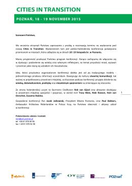 Program - Związek Miast Polskich