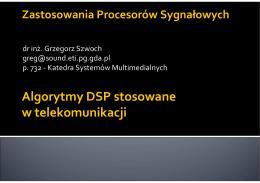 Algorytmy DSP stosowane w telekomunikacji