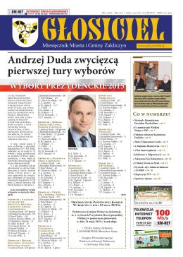 Andrzej Duda zwycięzcą pierwszej tury wyborów