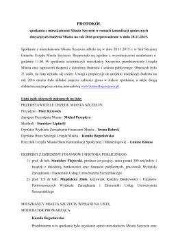 PROTOKÓŁ - Konsultuj Szczecin