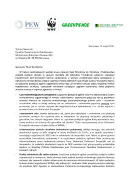 List organizacji pozarządowych do Dyrektora