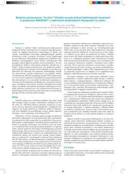 """Badanie porównawcze """"in-vitro"""" kinetyki wzrostu kolonii"""