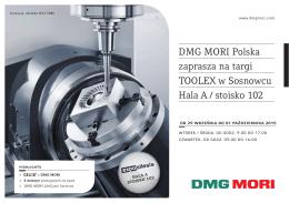 DMG MORI Polska zaprasza na targi TOOLEX w Sosnowcu Hala A