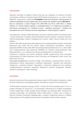 Jakub Słupiński Absolwent automatyki na Akademii Górniczo