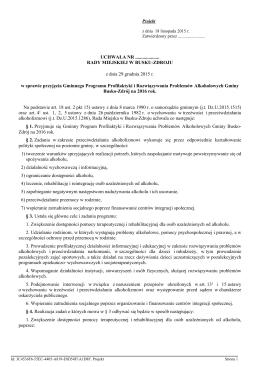 Uchwala z dnia 29 grudnia 2015 r. - Busko