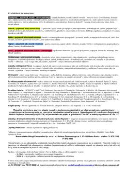 informacja - Noworudzkie Usługi Komunalne spółka z OO